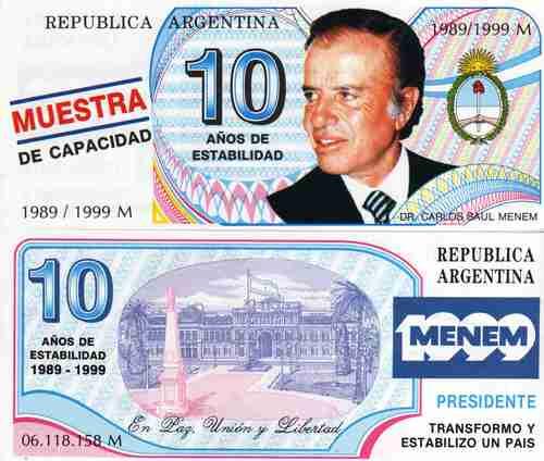 2 menemtruchos del año 1995 y 1999 propaganda politica