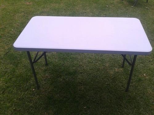 2 mesas plegable 1.22 de plastico p/ eventos, exterior