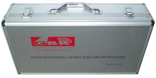 2 mic mano inalámbrico uhf 40 frecuencias + sop clip premium