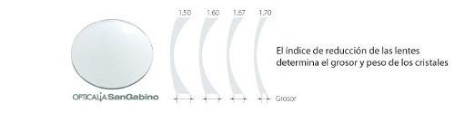 2 micas oftalmicas policarbonato p armazón *