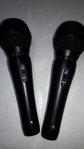 2 micrófonos audi-technica at-848ii