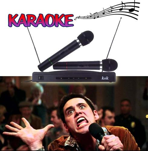 2 microfonos inalambricos + receptor doble / hb importacione