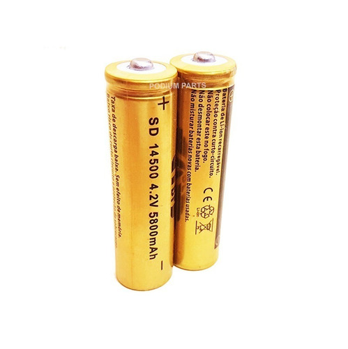 2 mini bateria recarregavel mini lantena tatica cree 14500