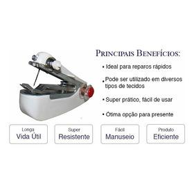 2 Mini Máquina De Costura Tecidos Portátil Manual Oferta.