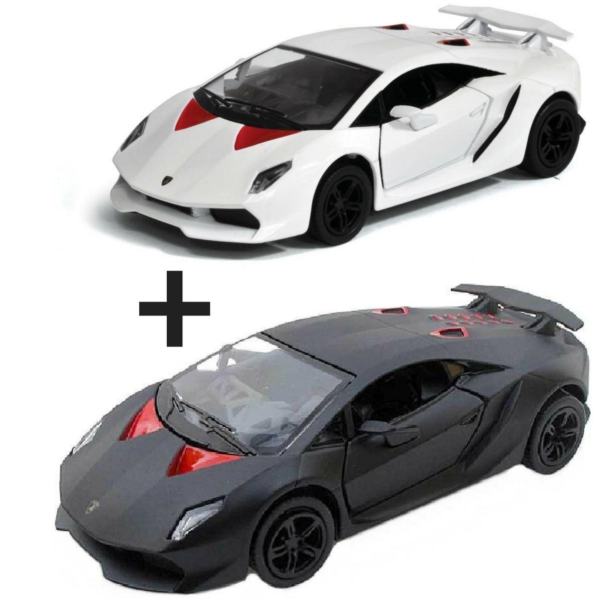 2 Miniatura Carrinho De Colecao Lamborghini Sesto Elemento R 63