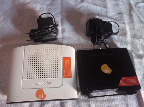 2 modens roteador wifi usados sem defeito, sem fonte