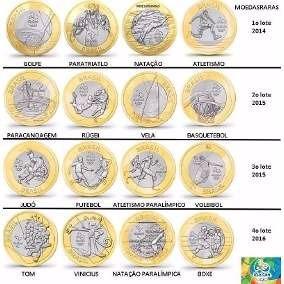 2 moedas olimpíadas avulsas