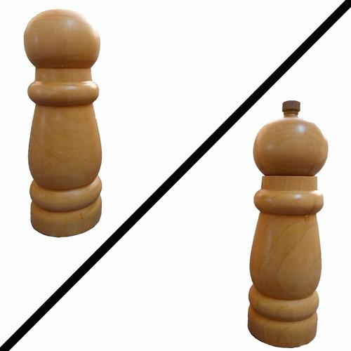 2 moedores de pimenta do reino de madeira bambu promoção