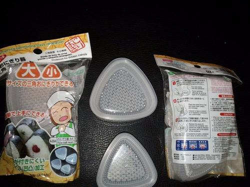 2 molde bento box accesorios onigiri bola de arroz rice oben