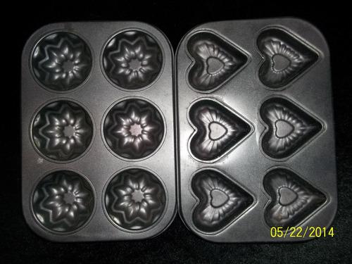 2 molde x 6 teflon para muffins magdalenas cupcakes