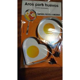 2 Moldes Corazon Y Redondo Huevos Acero Inoxidable
