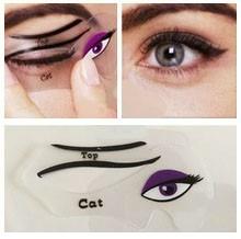 2 moldes em silicone maquiagem linda olho gato/olho esfumado