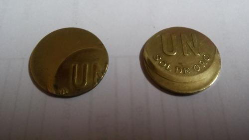 2 moneda de un sol error de acuñacion año 1975