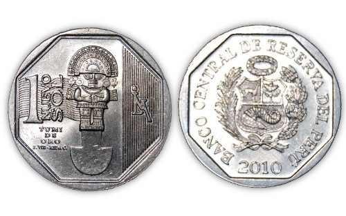 2 monedas riqueza y orgullo del peru tumi y machu picchu