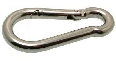 2 mosquetones de 5 mm x 60 mm de largo toolstock