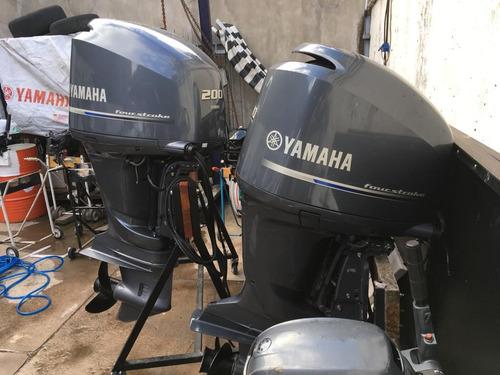 2 motores yamaha 200hp 4 tiempos v6 2017 52hs en garantía