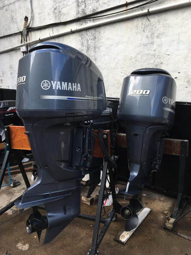 2 motores yamaha 200hp 4 tiempos v6 2017 52hs tc oficial!!