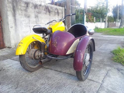 2 motos: horex regina/sidecar 1950 (350cc) alemana leer!