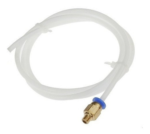 2 mt tubo teflon ptfe 2x4mm+8 conectores p/ hotend extrusora