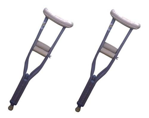 2 muletas infantil mobicare altura ajustable 31-36cm ecl06xs