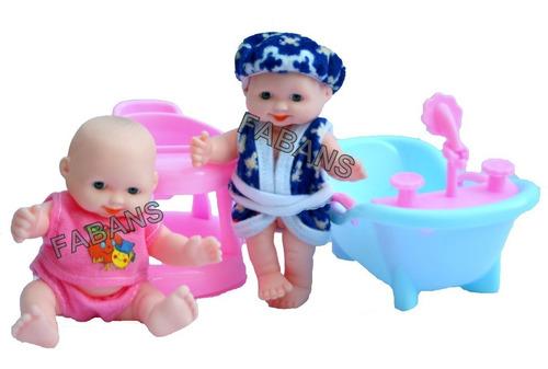 2 muñeca bebe querido + bañera + andadera juguetes niña