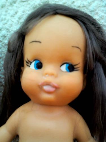 2 muñecas de goma años 70s. exelente estado 01