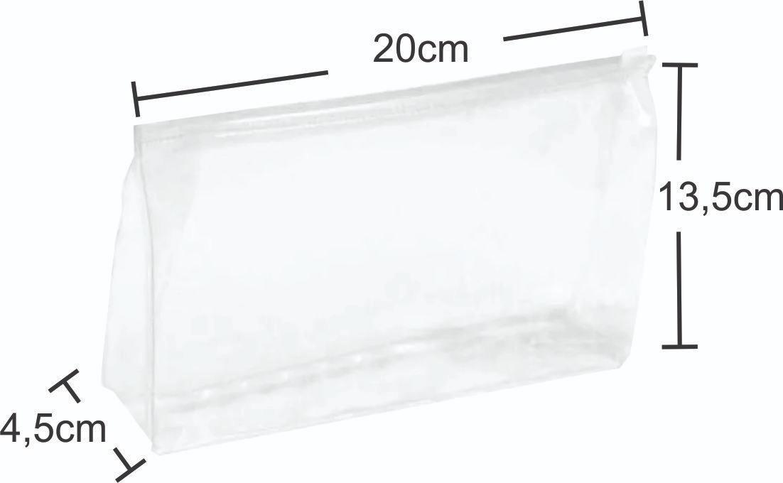 701d71fd2 2 Necessaires Estojo Pvc Cristal Transparente 20x13,5x4,5cm - R$ 14,00 em  Mercado Livre