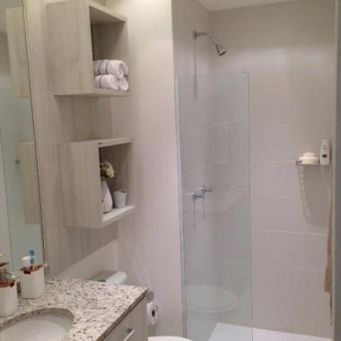 2 Nichos Decorativos 100 Mdf Bco Para Banheiro 30x30x15cm