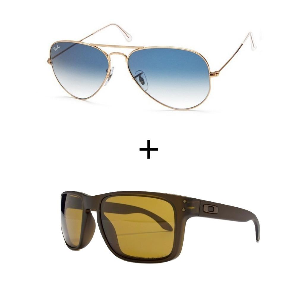 057b90488c4f1 2 Oculos De Sol Masculino Feminino Promoçao Verao - R  299