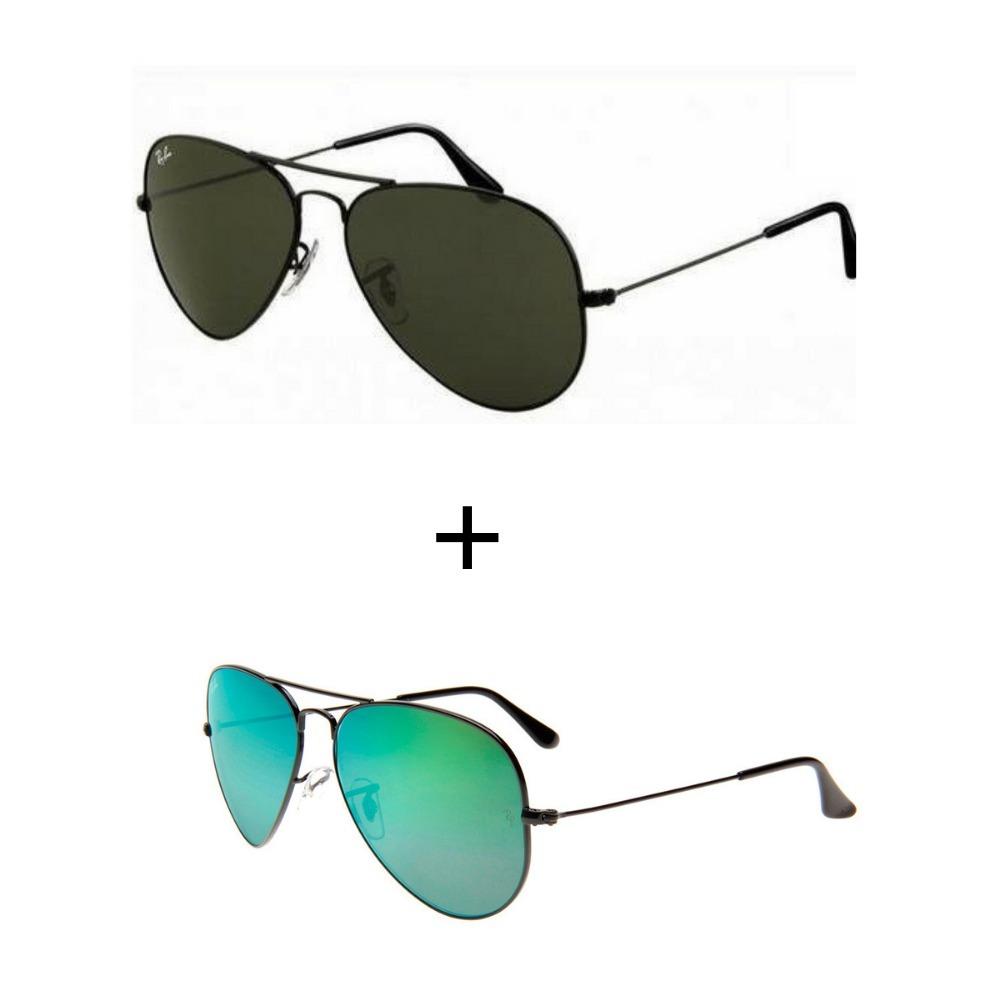 2 oculos de sol ray ban aviador rb3026 feminino masculino. Carregando zoom. f98ea21792