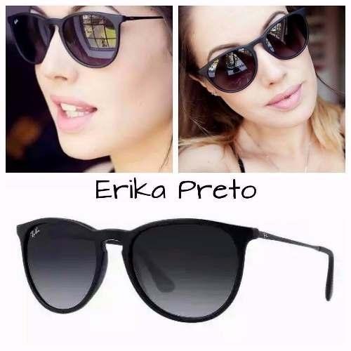 2 Óculos De Sol Ray Ban Erika Rb4171 Preto Original Feminino - R ... 830d6a0931
