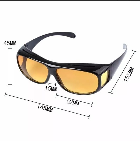 42fcd7864 2 Óculos Escuro E Amarelo De Sobrepor O De Grau No Brasil - R$ 72,00 em Mercado  Livre