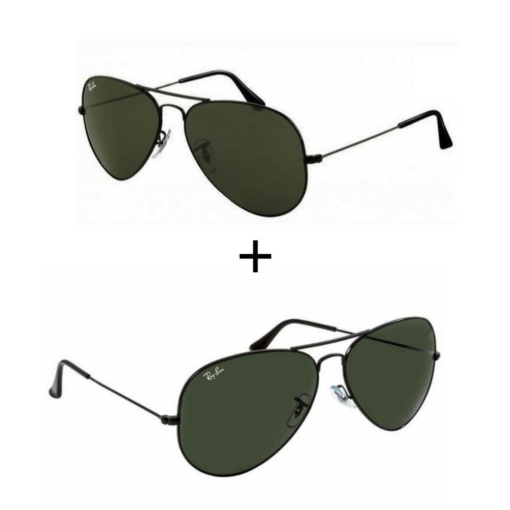 cf2a9948d9d9e 2 oculos ray ban aviador feminino masculino. Carregando zoom.