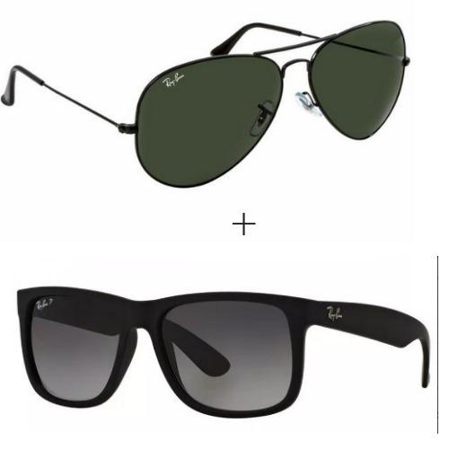 2 Óculos Ray Ban Aviador Feminino Masculino - R  249,99 em Mercado Livre 765dfbf2b9