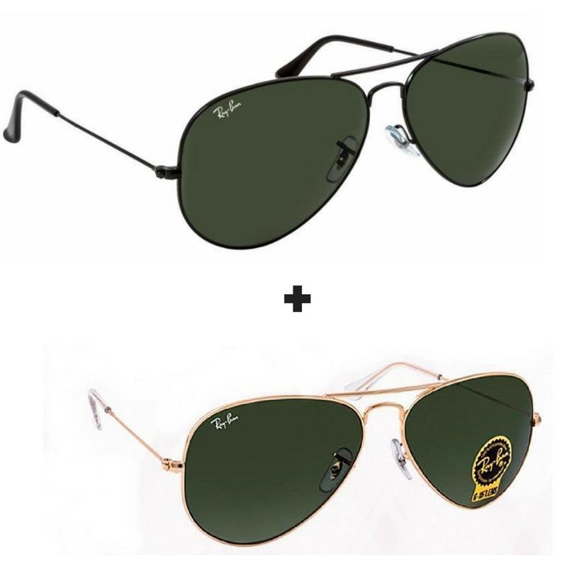 919ef9bdd398e 2 oculos ray ban aviador masculino feminino original promoça. Carregando  zoom.