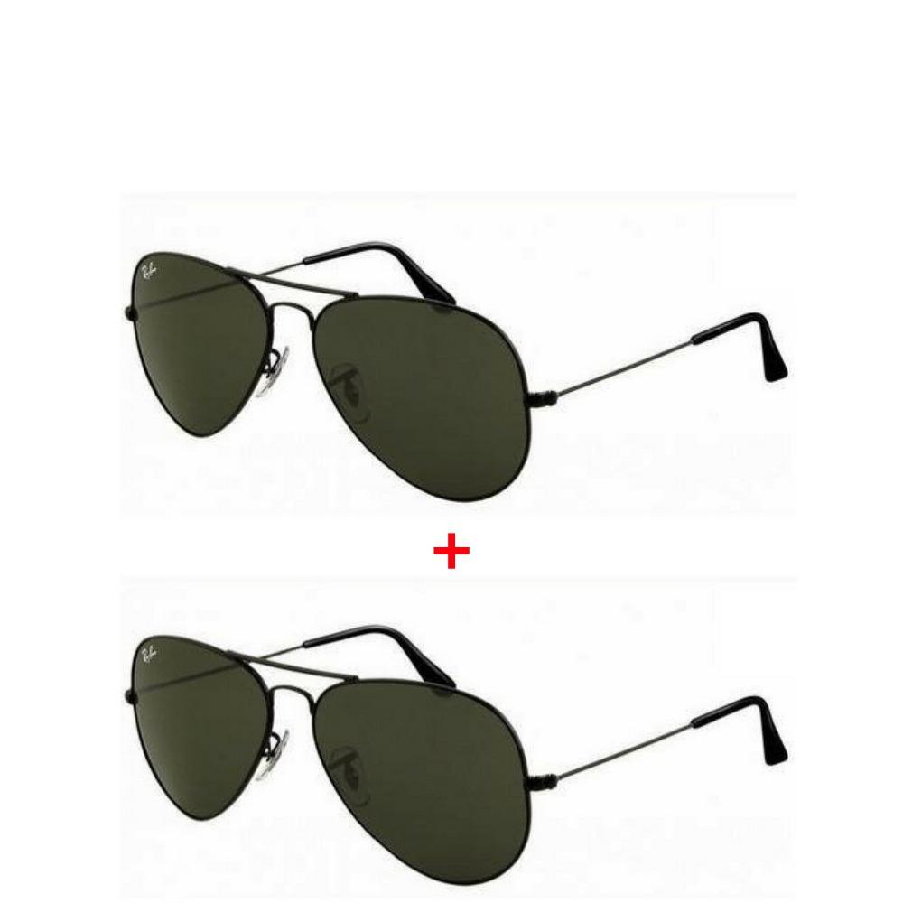 33376b5f1 2 oculos ray ban aviador masculino feminino rb3025 promoçao. Carregando  zoom.