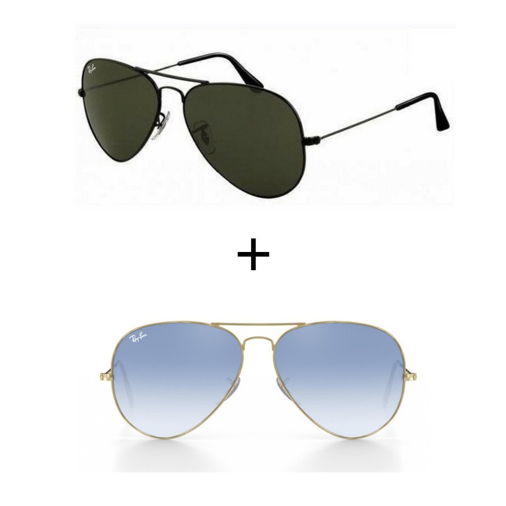2 oculos ray-ban aviador rb3026 azul degrade+preto promoçao. Carregando  zoom. 169561b421
