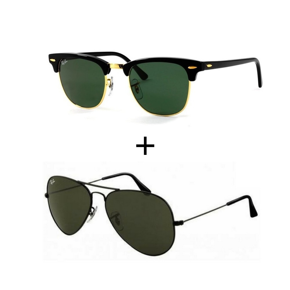 2 Oculos Ray-ban Masculino Feminino Promoçao Verao - R  299,99 em ... 2fd75d9bcc