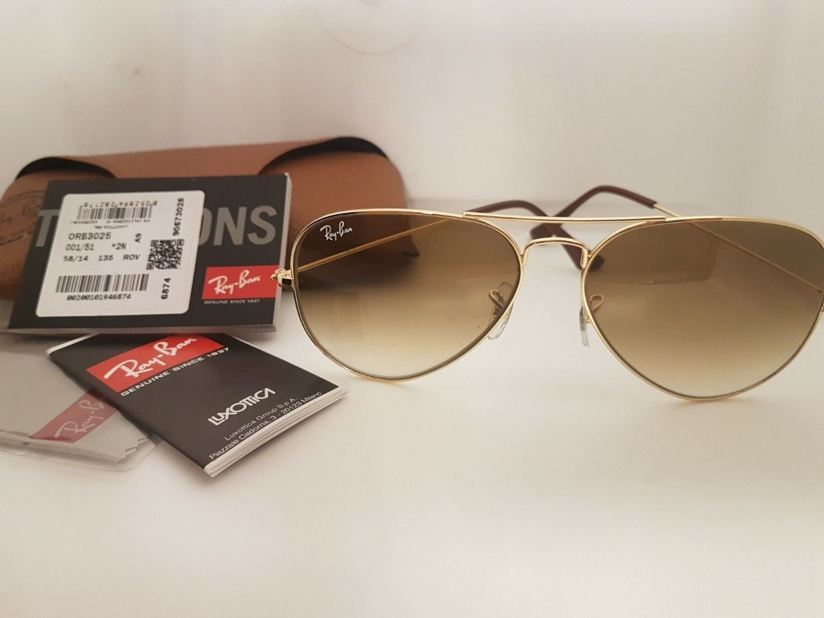 2 óculos ray ban rb3025 aviador degradê original 60%off. Carregando zoom. 9be56e5cf6