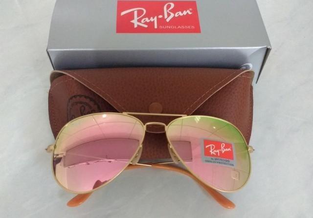 70996a2672f55 2 Oculos Rayban Aviador Masculino Feminino Original C  Cert - R  130 ...