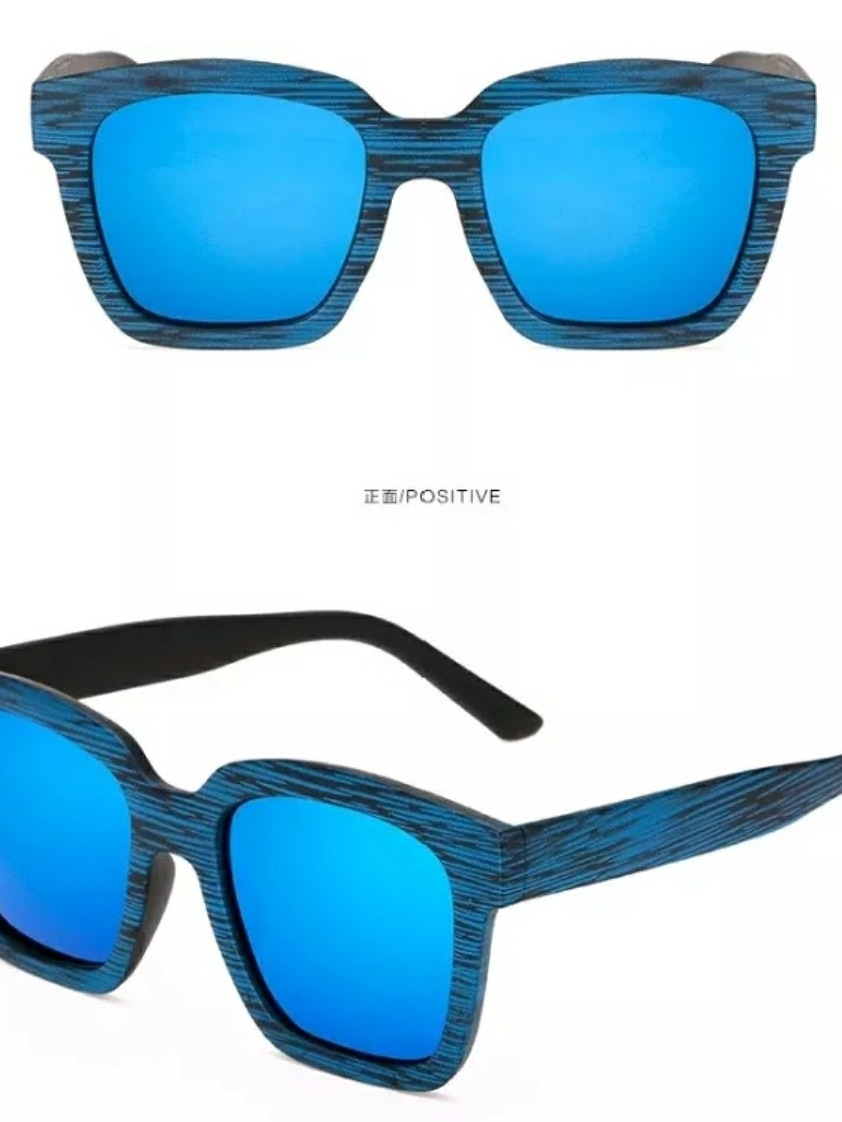d651a1f8ab075 2 óculos sol feminino madeira retrô vintage uv400 promoção. Carregando zoom.