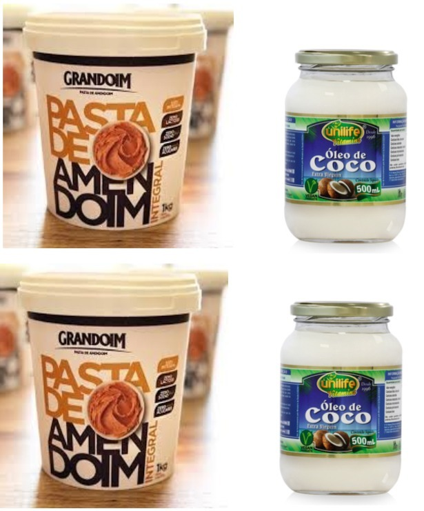 1f9934f25 2 Óleo Coco 500ml Unilife E 2 Pasta Amendoim 1kg Grandoim - R  120 ...