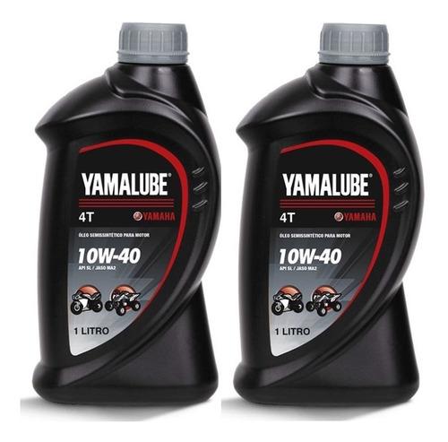 2 óleo yamalube 10w40 simi sintético api sl motos 4 tempos