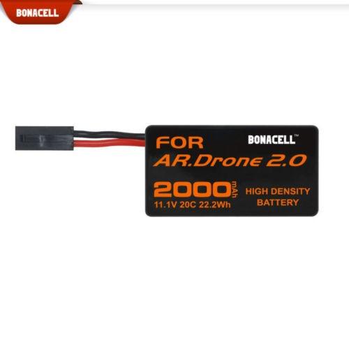 2 pack 2000mah parrot ar drone 2.0 batería 11.1v 20c actual