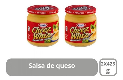 2 pack cheez whiz kraft - salsa de queso - g a $58