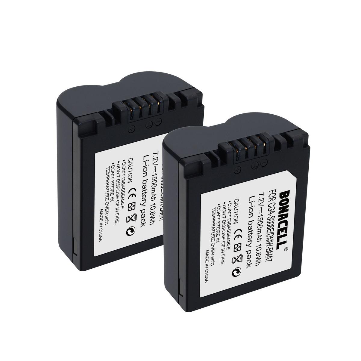Batería de Alta Capacidad Para Panasonic CGR-S006//S006E Lumix DMC FZ7 FZ8 DMCFZ 7