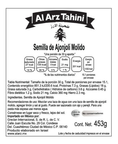 2 pack de tahini clasico, al arz tahini