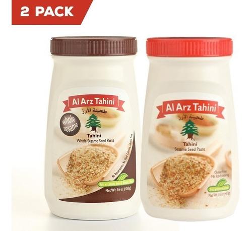2 pack de tahini variedad: clasico + integral al arz tahini