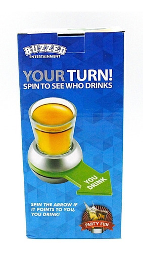 2 pack drinking game your turn shot spinner
