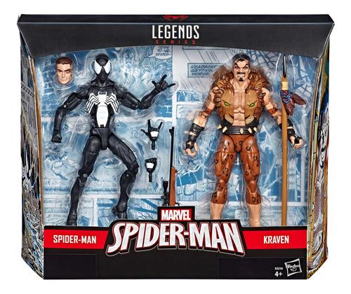 2 pack figuras spider-man y kraven 6 pulgadas marvel